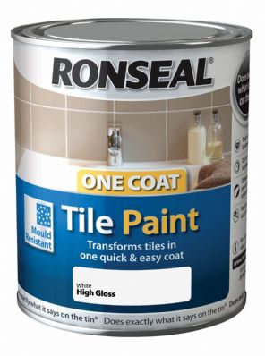 Ronseal One Coat Tile Paint 750ml - All Colours FREE DELIVERY
